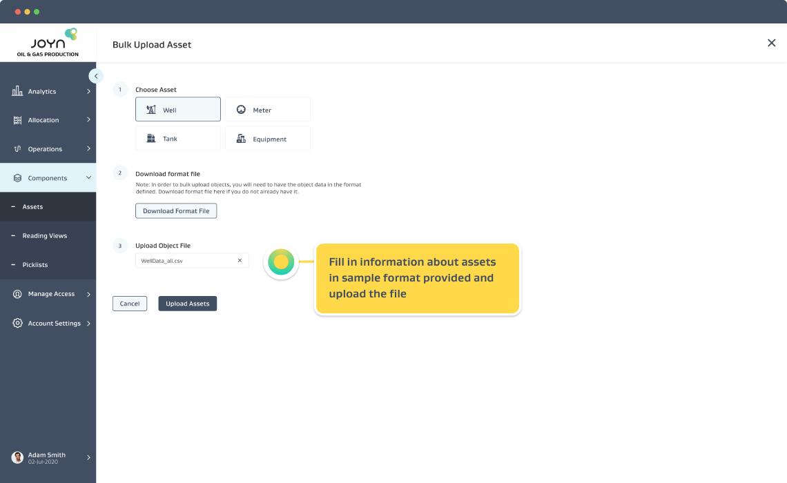 Setup Objects Screen